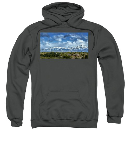 The City Of Bariloche And Landscape Of Snowy Mountains In The Argentine Patagonia Sweatshirt