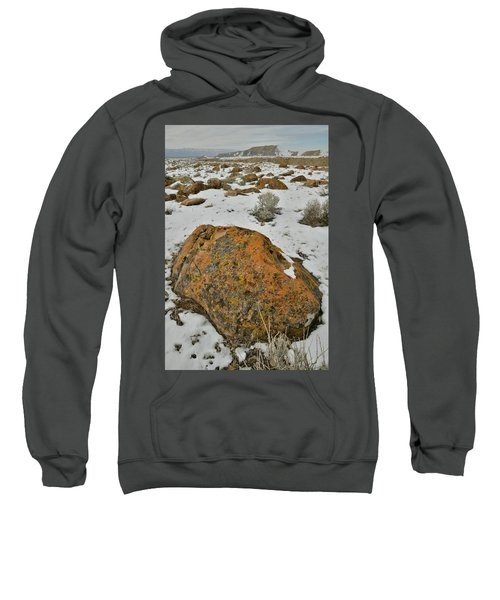 The Lichen Covered Boulders Of The Book Cliffs Sweatshirt