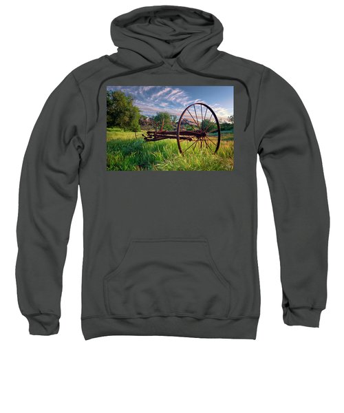 Sweatshirt featuring the photograph The Old Hay Rake 2 by Endre Balogh