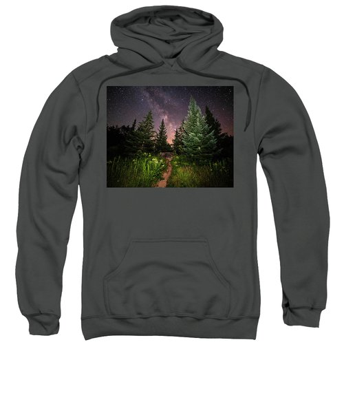 The Path To The Milky Way In Albany New Hampshire Sweatshirt