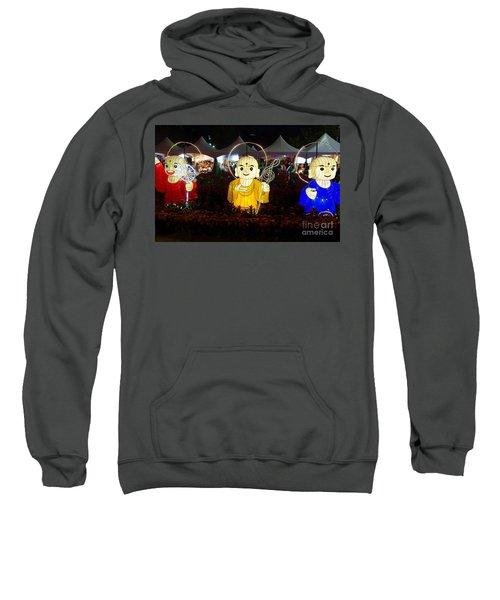 Three Lanterns In The Shape Of Buddhist Monks Sweatshirt