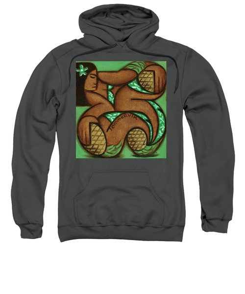 Tommervik Tommrvik Hawaiian Woman Pineapple Art Print Sweatshirt