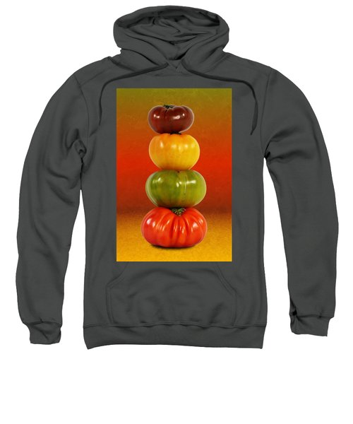 Tower Of Colorful Tomatoes Sweatshirt