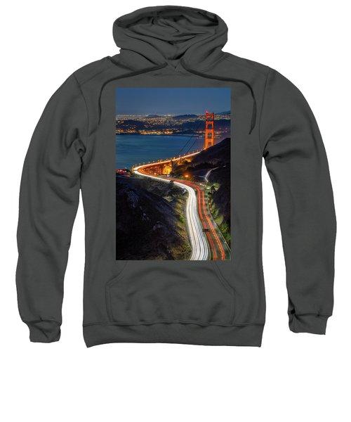 Traffic Racing Over The Golden Gate Bridge Sweatshirt