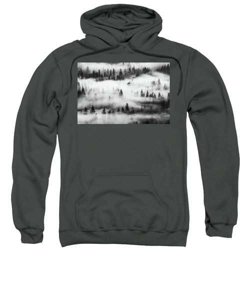 Sweatshirt featuring the photograph Trees In The Mist 3 by Stephen Holst