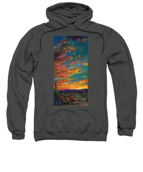 Triptych 1 Desert Sunset Sweatshirt