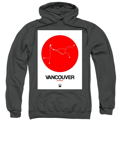 Vancouver Red Subway Map Sweatshirt