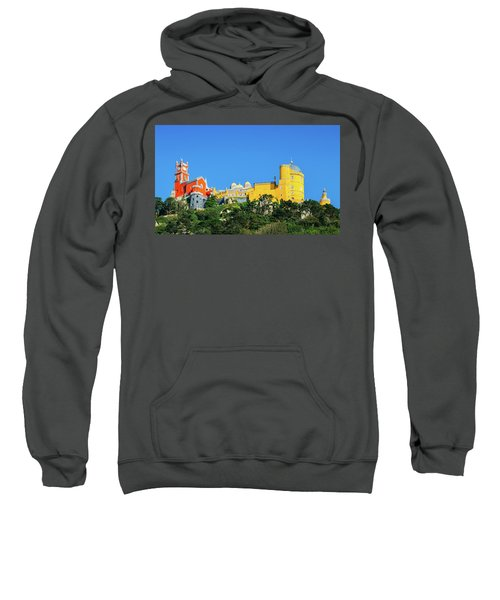 View Of Pena National Palace, Sintra, Portugal, Europe Sweatshirt