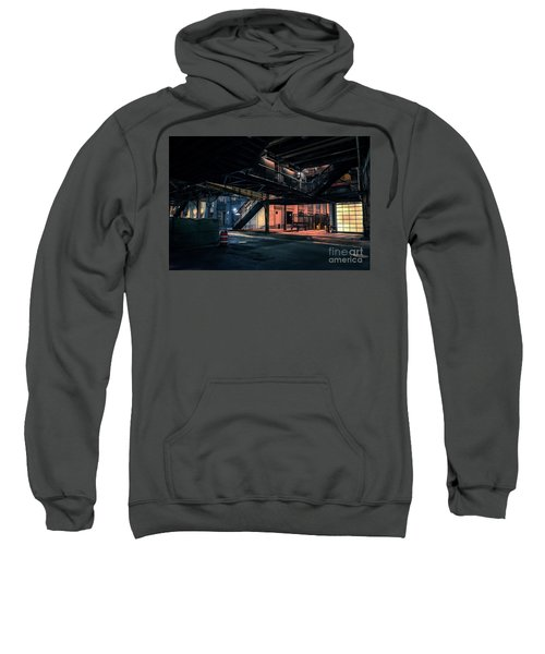 Vintage Chicago L Station At Night Sweatshirt