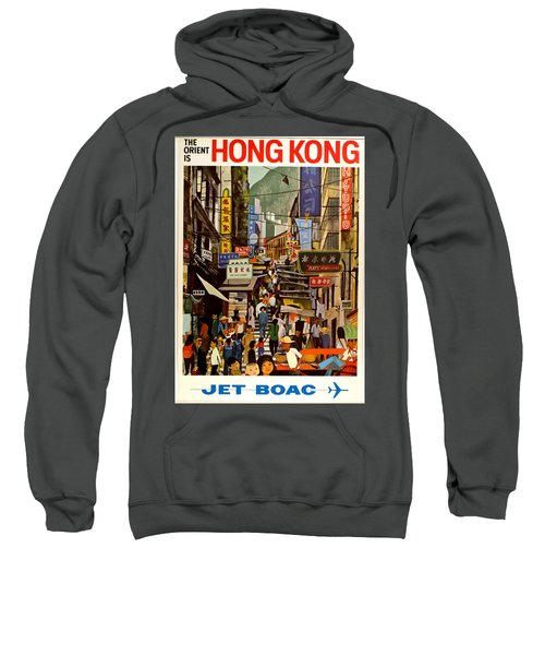 Vintage Travel Poster - Hong Kong Sweatshirt