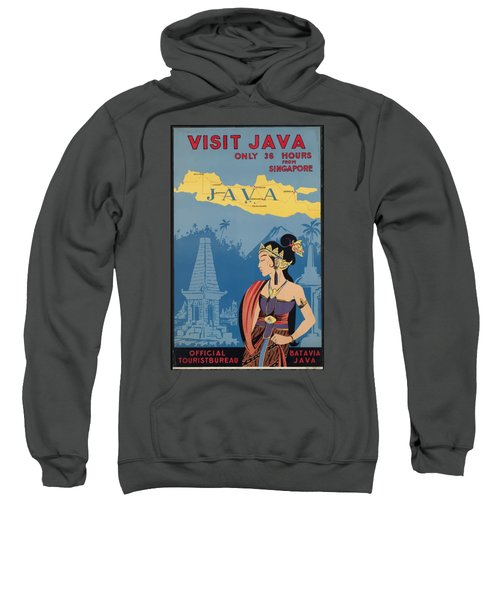 Vintage Travel Poster - Java Sweatshirt