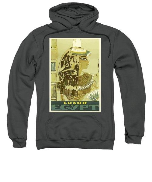 Vintage Travel Poster - Luxor, Egypt Sweatshirt