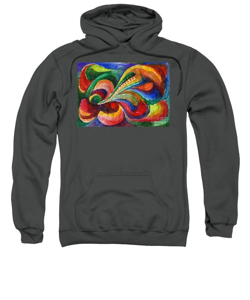 Vivid Abstract Watercolor Sweatshirt