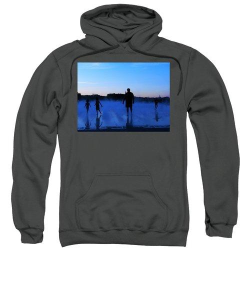 Water Spray Play At Sunset Sweatshirt