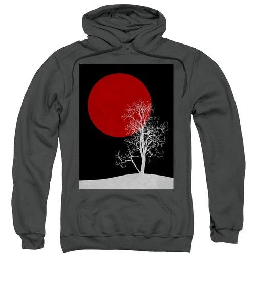 White Night Tree Sweatshirt