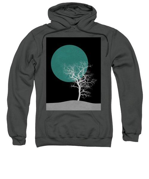White Tree And Big Moon Sweatshirt