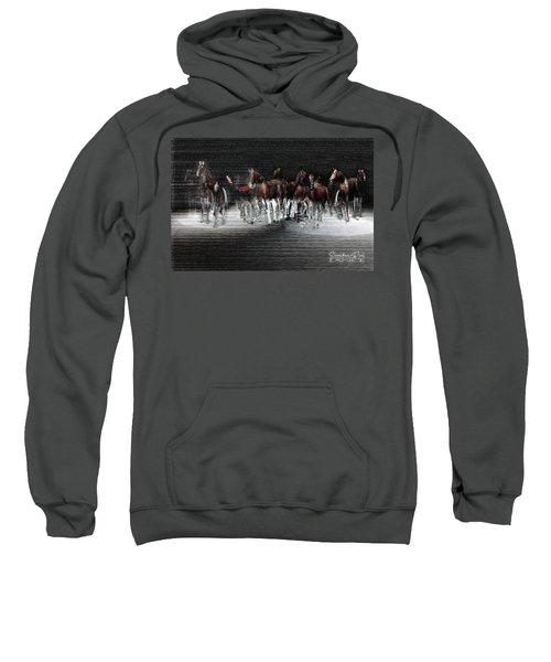 Wild Horses Under Spotlight Sweatshirt