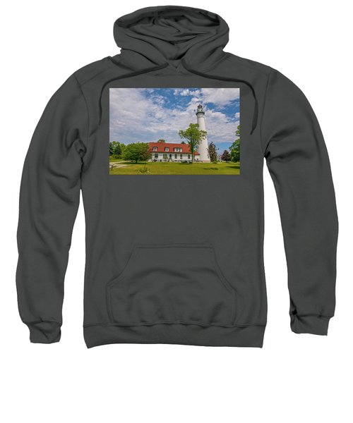 Wind Point Lighthouse  Sweatshirt