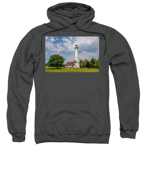 Wind Point Lighthouse No 3 Sweatshirt