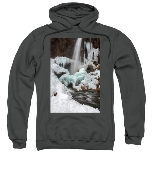 Winter At Rifle Falls Colorado Sweatshirt