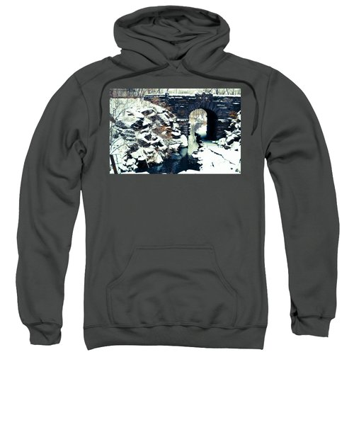 Winter Day At The Glen Span Arch Sweatshirt