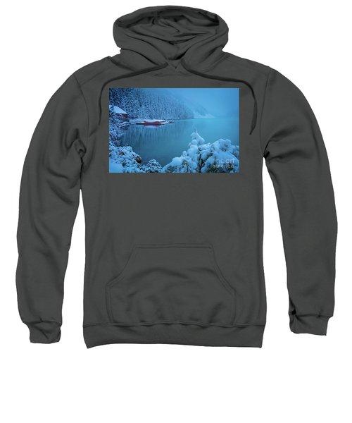 Winter Morning At Lake Louise Sweatshirt