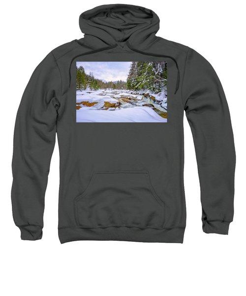 Winter On The Swift River. Sweatshirt