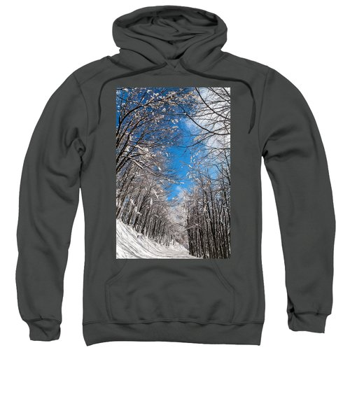 Sweatshirt featuring the photograph Winter Road by Evgeni Dinev