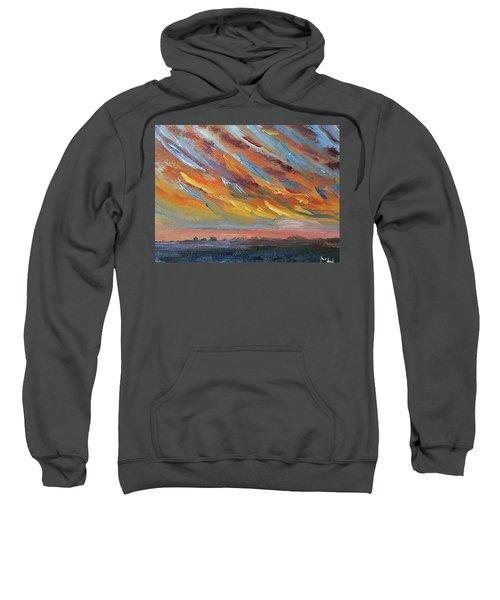 Winter Sunrise Over Provincetown Sweatshirt