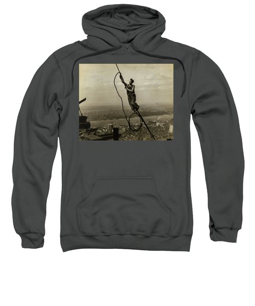 Workers On Teh Empire State Building, 1930 Sweatshirt