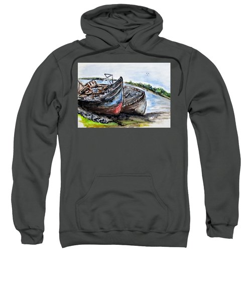 Wrecked River Boats Sweatshirt
