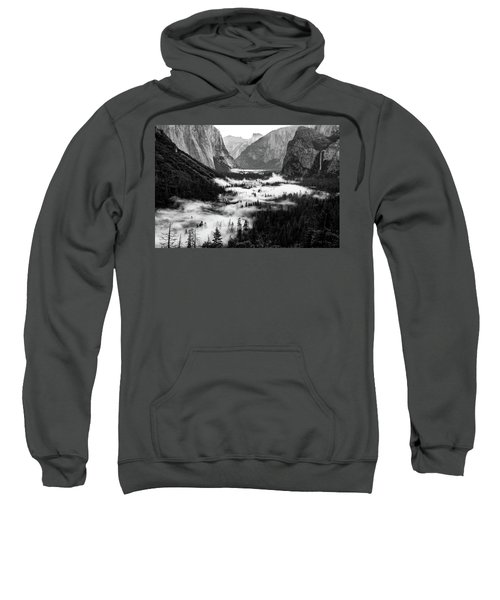 Sweatshirt featuring the photograph Yosemite Fog 2 by Stephen Holst