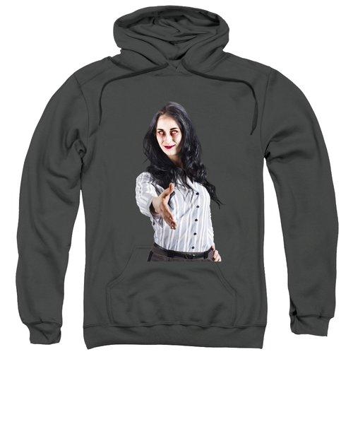 Zombie Offers Her Hand Sweatshirt