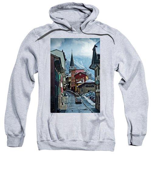 A Winter Day In Montreux, Switzerland Sweatshirt