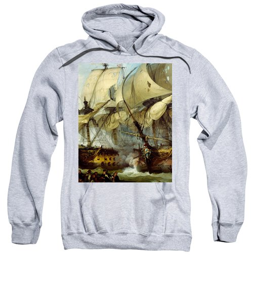 Glorious First Of June Or Third Battle Of Ushant Between English And French Sweatshirt