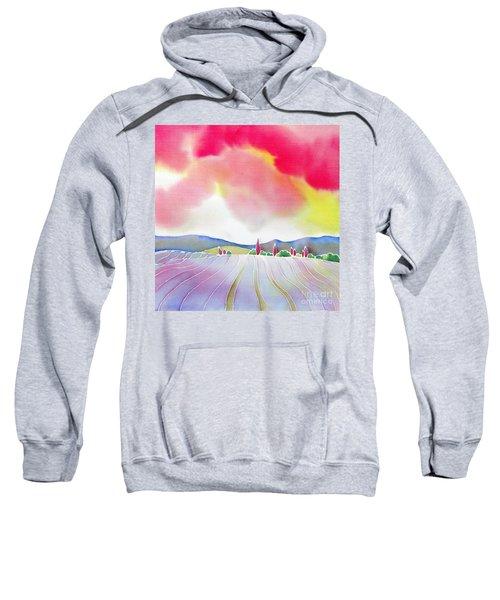 Sunset On The Lavender Farm Sweatshirt
