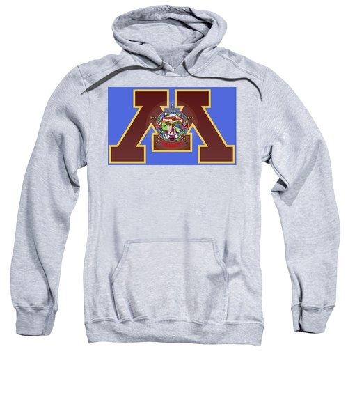 U Of M Minnesota State Flag Sweatshirt by Daniel Hagerman