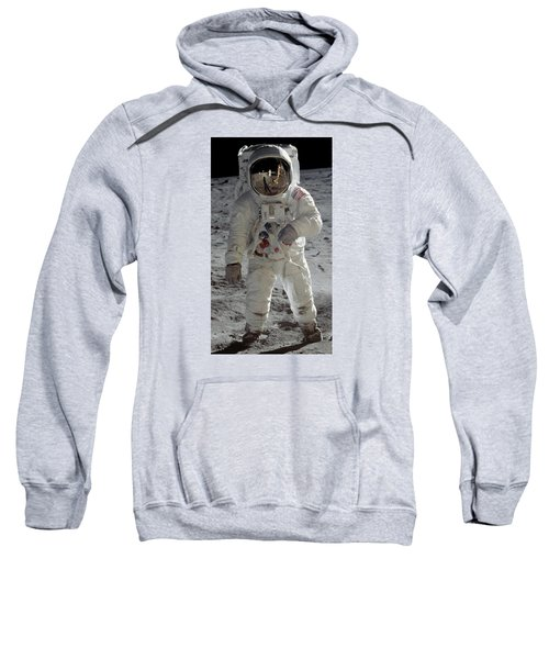 Sweatshirt featuring the photograph Apollo 11 by Celestial Images