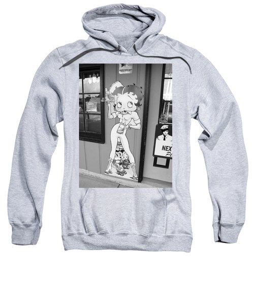 Sweatshirt featuring the photograph Betty Boop 3 by Frank Romeo
