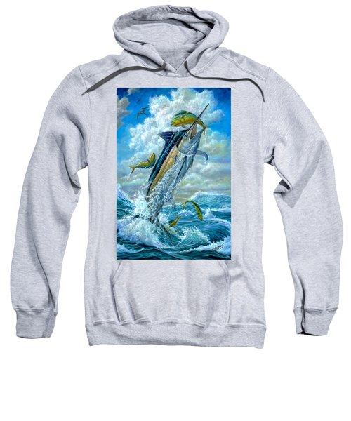Big Jump Blue Marlin With Mahi Mahi Sweatshirt