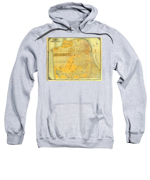 Britton And Reys Guide Map Of The City Of San Francisco. 1887. Sweatshirt