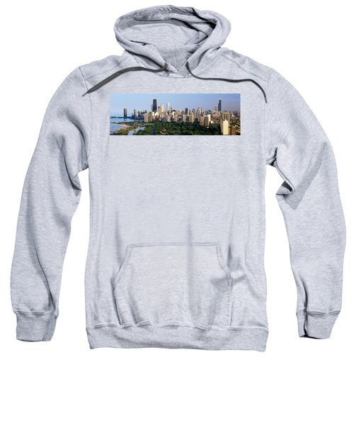 Buildings In A City, View Of Hancock Sweatshirt by Panoramic Images