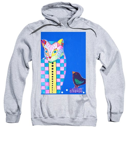 Checkered Cat Sweatshirt