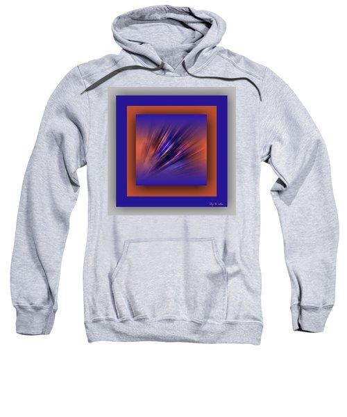 Sweatshirt featuring the digital art Collage Blue by Mihaela Stancu