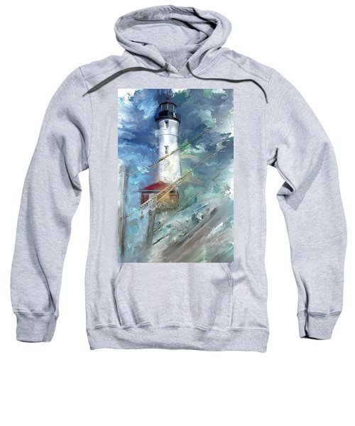 Crisp Point Lighthouse Michigan Sweatshirt
