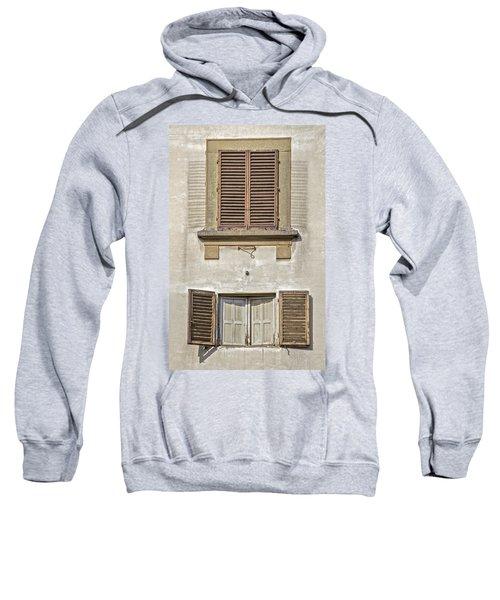 Dueling Windows Of Tuscany Sweatshirt