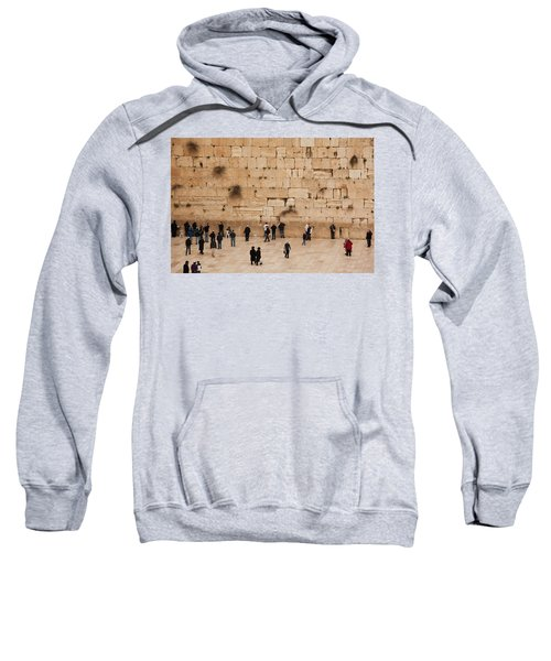 Elevated View Of The Western Wall Plaza Sweatshirt