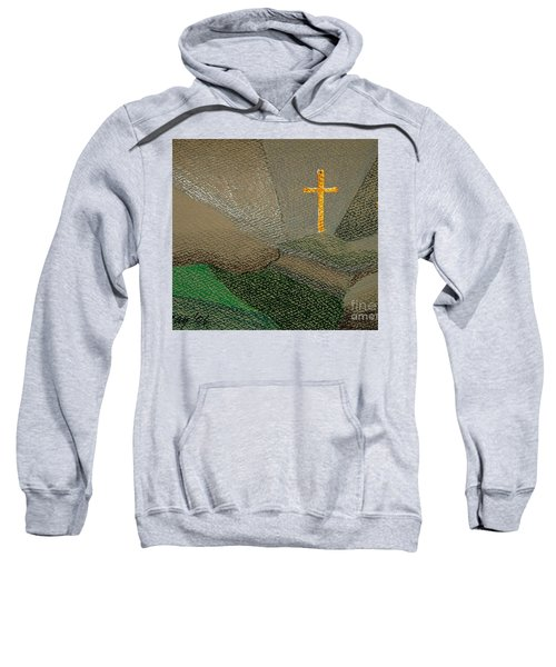 Sweatshirt featuring the drawing Depression And The Saviour by Rod Ismay