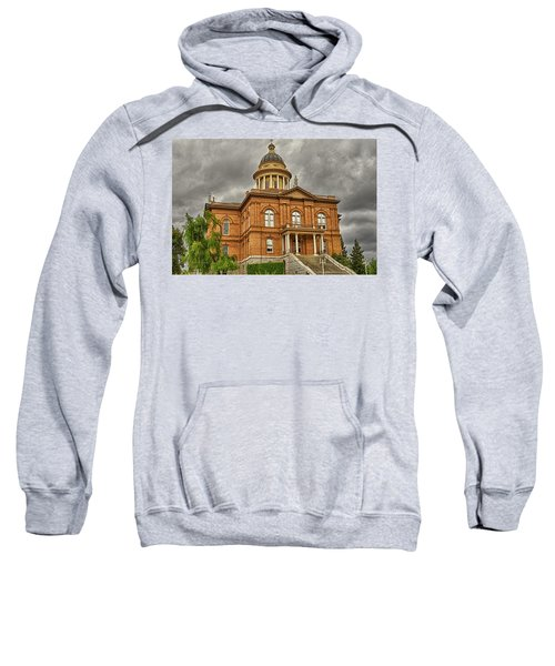 Sweatshirt featuring the photograph Historic Placer County Courthouse by Jim Thompson