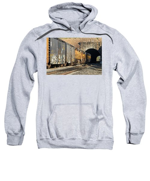 Sweatshirt featuring the photograph Hp 8717 by Jim Thompson
